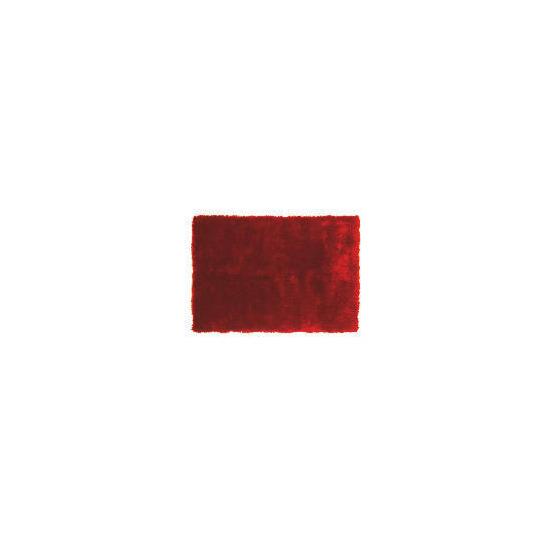 Tesco Luxurious Shaggy Rug, Red 120x170cm