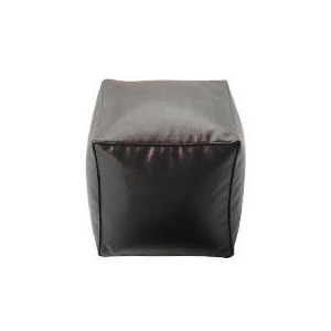 Photo of Tesco Faux Leather Bean Cube, Chocolate Furniture