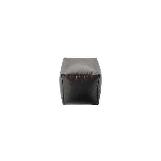 Tesco Faux Leather Bean Cube, Chocolate
