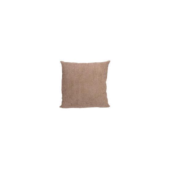 Tesco Large Chenille Cushion, Mocha