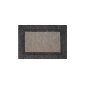 Photo of Tesco Border Wool Rug, Steel 120X170CM Furniture