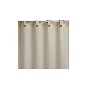 Photo of Plain Canvas Unlined Belt Top Curtainss, Natural 117X137CM Curtain