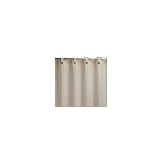 Plain Canvas Unlined Belt Top Curtainss, Natural 117x137cm