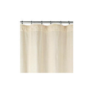 Photo of Linen Effect Unlined Pencil Pleat Curtainss, Natural 117X137CM Curtain