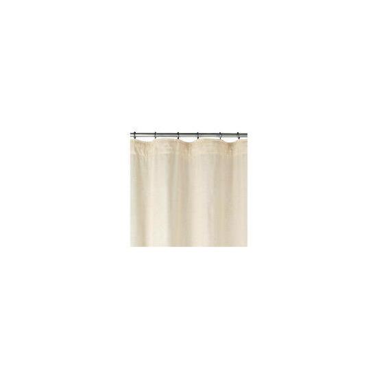 Linen Effect Unlined Pencil Pleat Curtainss, Natural 117x137cm
