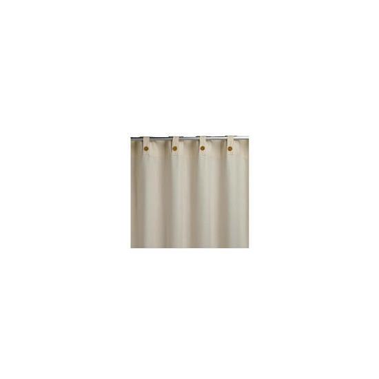 Plain Canvas Unlined Belt Top Curtainss, Natural 117x229cm