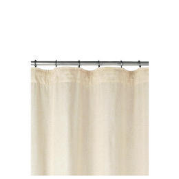 Linen Effect Unlined Pencil Pleat Curtainss, Natural 168x137cm Reviews
