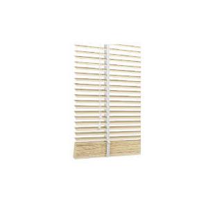 Photo of Wood Venetian Blind, Chalk 180CM Curtain