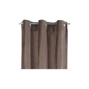 Photo of Tesco Velvet Lined Eyelet Curtains, Chocolate 137X229CM Curtain