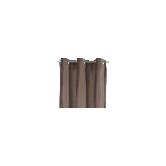 Tesco Velvet Lined Eyelet Curtains, Chocolate 137x229cm