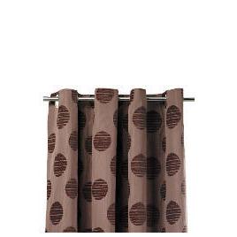 Tesco Chenille Spot Lined Eyelet Curtains, Mocha 163x229cm Reviews