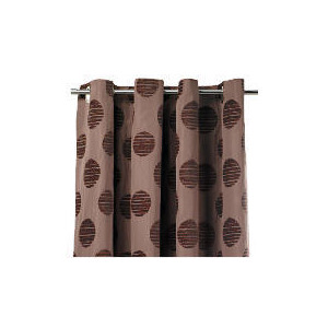 Photo of Tesco Chenille Spot Lined Eyelet Curtains, Mocha 163X229CM Curtain