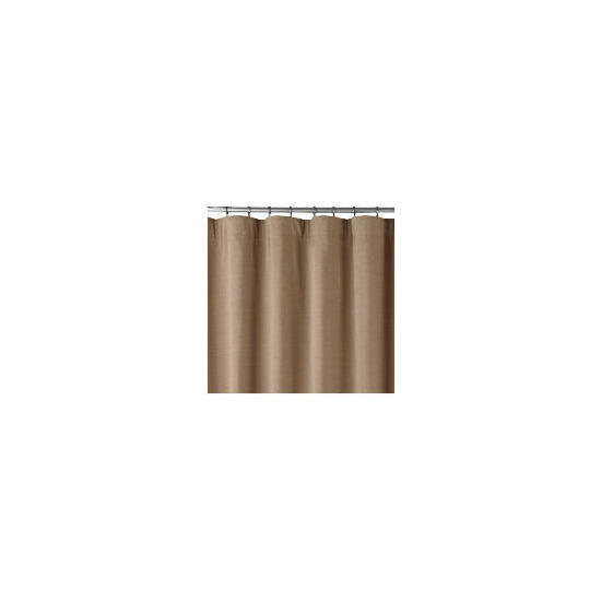 Chenille Lined Pencil Pleat Curtainss, Biscuit 163x183cm