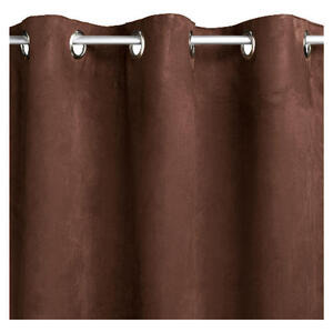 Photo of Tesco Faux Suede Unlined Eyelet Curtains, Chocolate 117X183CM Curtain