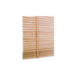 Photo of Wood Venetian Blind, Natural 120CM Curtain