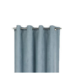 Tesco Faux Suede Unlined Eyelet Curtains, Duck Egg 168X229 Reviews
