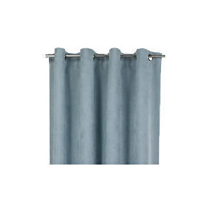 Photo of Tesco Faux Suede Unlined Eyelet Curtains, Duck Egg 168X229 Curtain