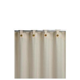 Plain Canvas Unlined Belt Top Curtainss, Natural 168x229cm Reviews