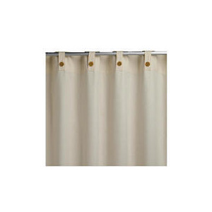 Photo of Plain Canvas Unlined Belt Top Curtainss, Natural 168X229CM Curtain