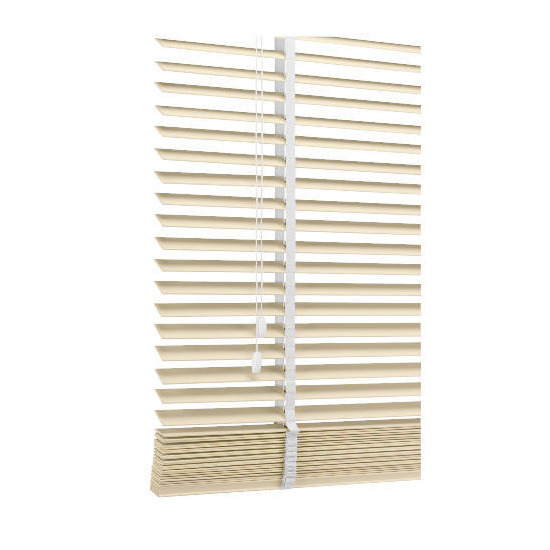 Wood Venetian Blind, Chalk 60cm