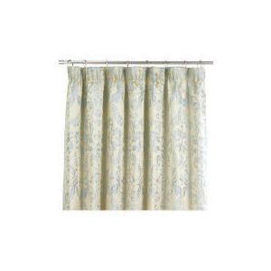 Photo of Tesco Damask Jacquard Lined Pencil Pleat Curtains, Duck Egg 163X137CM Curtain