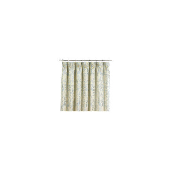 Tesco Damask Jacquard Lined Pencil Pleat Curtains, Duck Egg 163x137cm