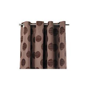 Photo of Tesco Chenille Spot Lined Eyelet Curtains, Mocha 229X229CM Curtain