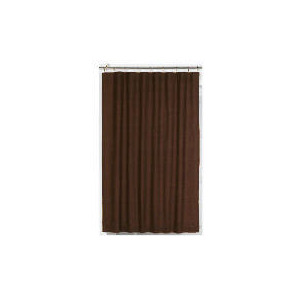 Photo of Tesco Linen Effect Unlined Pencil Pleat Curtains, Chocolate 117X183CM Curtain