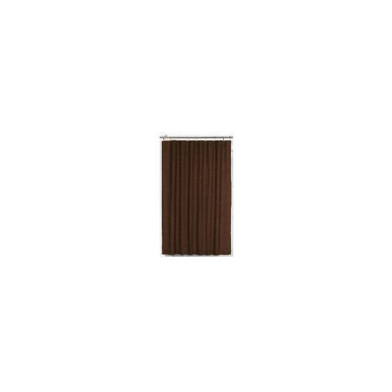 Tesco Linen Effect Unlined Pencil Pleat Curtains, Chocolate 117x183cm
