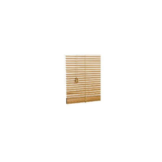 Wood Venetian Blind, Natural 60cm