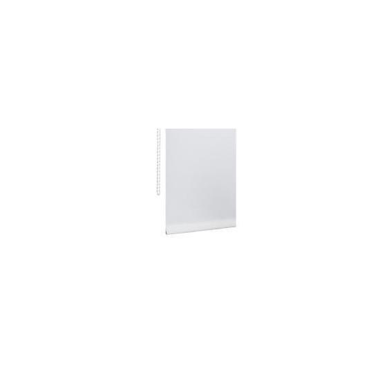 Plain Roller Blind with Straight Edge, White 180cm
