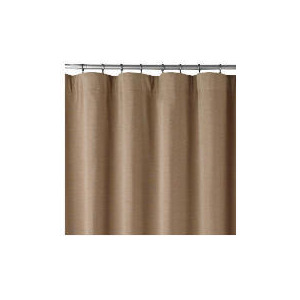 Photo of Chenille Lined Pencil Pleat Curtainss, Biscuit 163X137CM Curtain