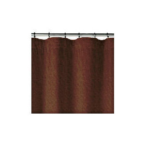 Photo of Linen Effect Unlined Pencil Pleat Curtainss, Chocolate 168X137CM Curtain