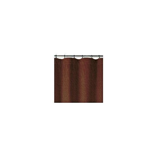 Linen Effect Unlined Pencil Pleat Curtainss, Chocolate 168x137cm
