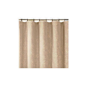 Photo of Tesco Leaf Jacquard Lined Pencil Pleat Curtains, Taupe 112X183CM Curtain