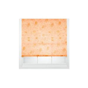 Photo of Square Printed Roller Blind, Terracotta 120CM Blind