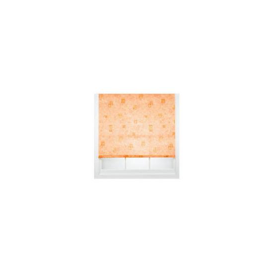 Square Printed Roller Blind, Terracotta 120cm