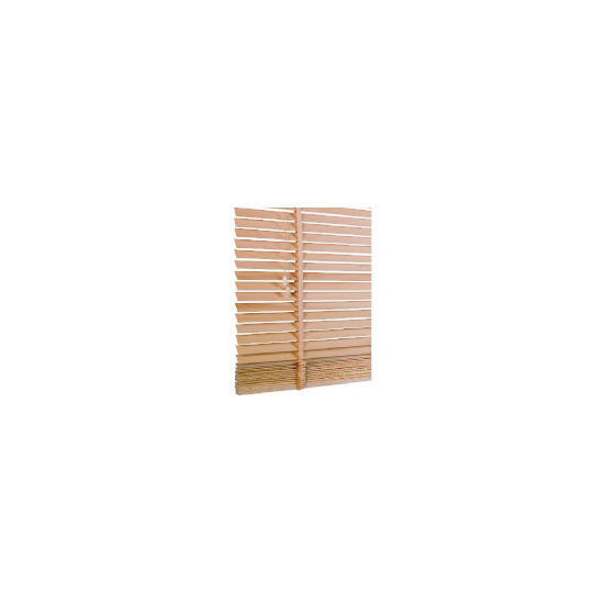Wood Venetian Blind, Natural 90cm