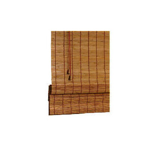 Photo of Wood Roman Blind, Natural 90CM Curtain