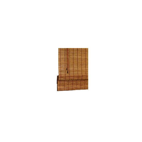 Wood Roman Blind, Natural 90cm