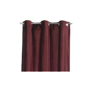 Photo of Tesco Velvet  Lined Eyelet Curtains, Berry 137X183CM Curtain