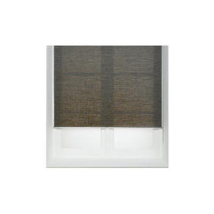 Photo of Raffia Roller Blind, Chocolate 90CM Blind
