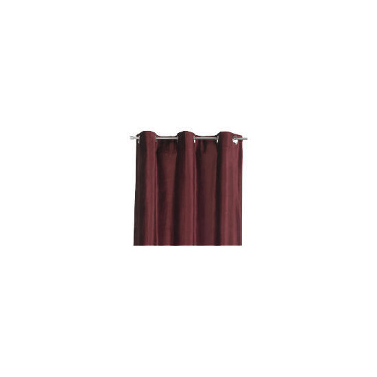 Tesco Velvet Curtains Lined Eyelet, Berry 137x229cm