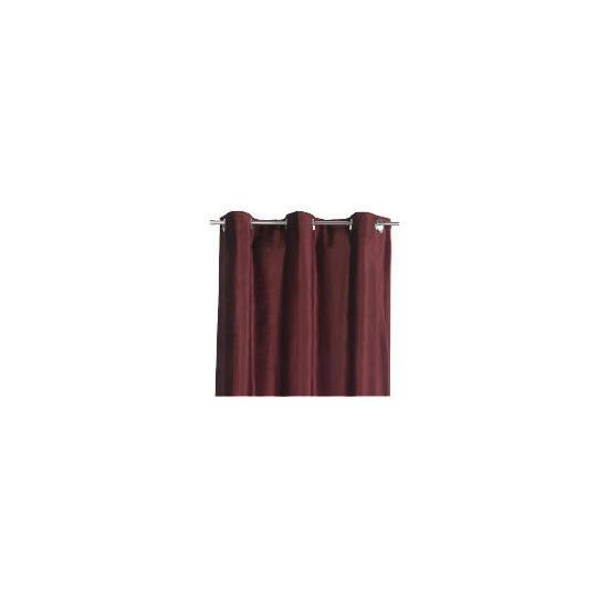 Tesco Velvet Curtains Lined Eyelet, Berry 137x229cm
