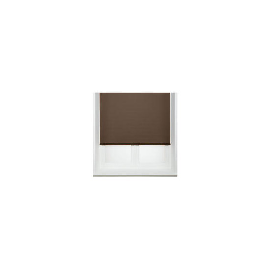 Thermal Blackout Blind, Chocolate 120cm