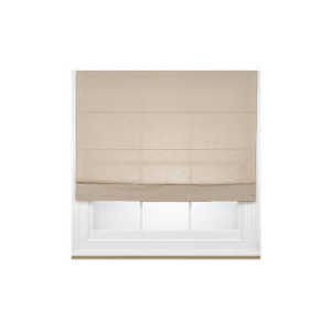 Photo of Fabric Roman Blind, Taupe 120CM Curtain