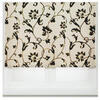 Photo of Flocked Floral Roller Blind, 180CM Curtain