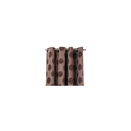 Tesco Chenille Spot Lined Eyelet Curtains, Mocha 163x183cm