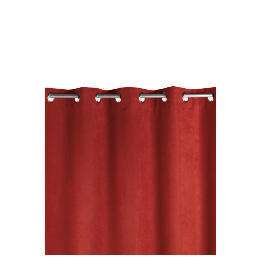 Faux Suede Unlined Eyelet Curtainss, Berry 168x183cm Reviews