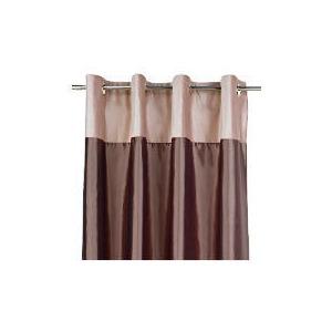 Photo of Tesco Velvet Taffeta  Lined Eyelet Curtains, Warm Mink 163X183CM Curtain